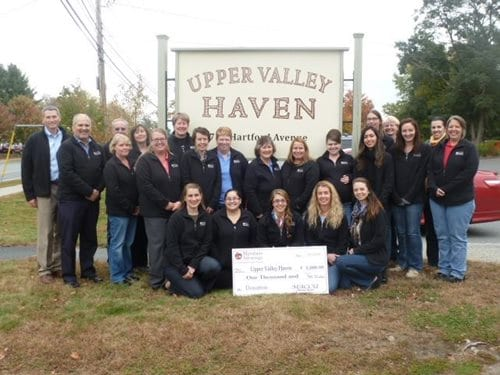 MACCU staff volunteering at Upper Valley Haven