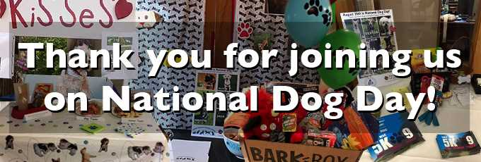 Thank you for joining us on National Dog Day!